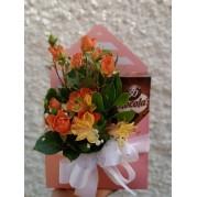 Envelope mix de flores e chocolas