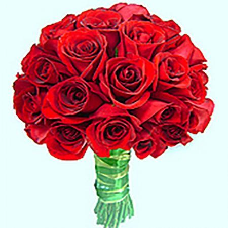 Buquê de noiva com rosas vermelhas importadas