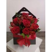 Envelope com 6 rosas