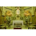 Decoração de altar Igreja de Lourdes BH/MG