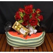 kit Apaixonados por pipocas e rosas