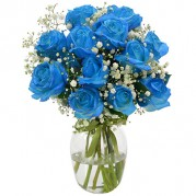 Buquê surpresa de rosas azuis