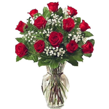 Buquê encanto de rosas vermelhas