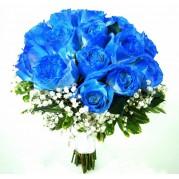 Buquê de Noiva Rosas Azuis