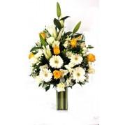 Arranjo de flores diversas