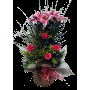 Vaso de Lírio rosa