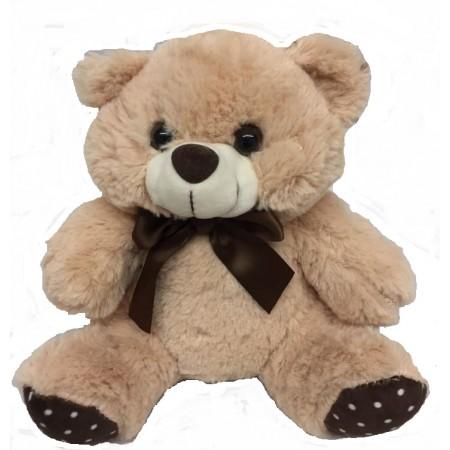Urso Pelúcia 20cm com poa no pé