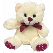 urso pelúcia 20cm rosa de poa